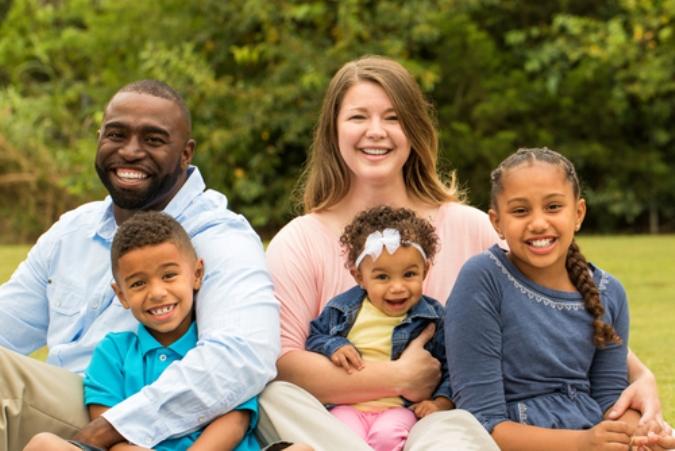 Inter racial family pic